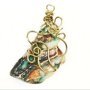 BOGO💫Green Jasper Stone Pendant